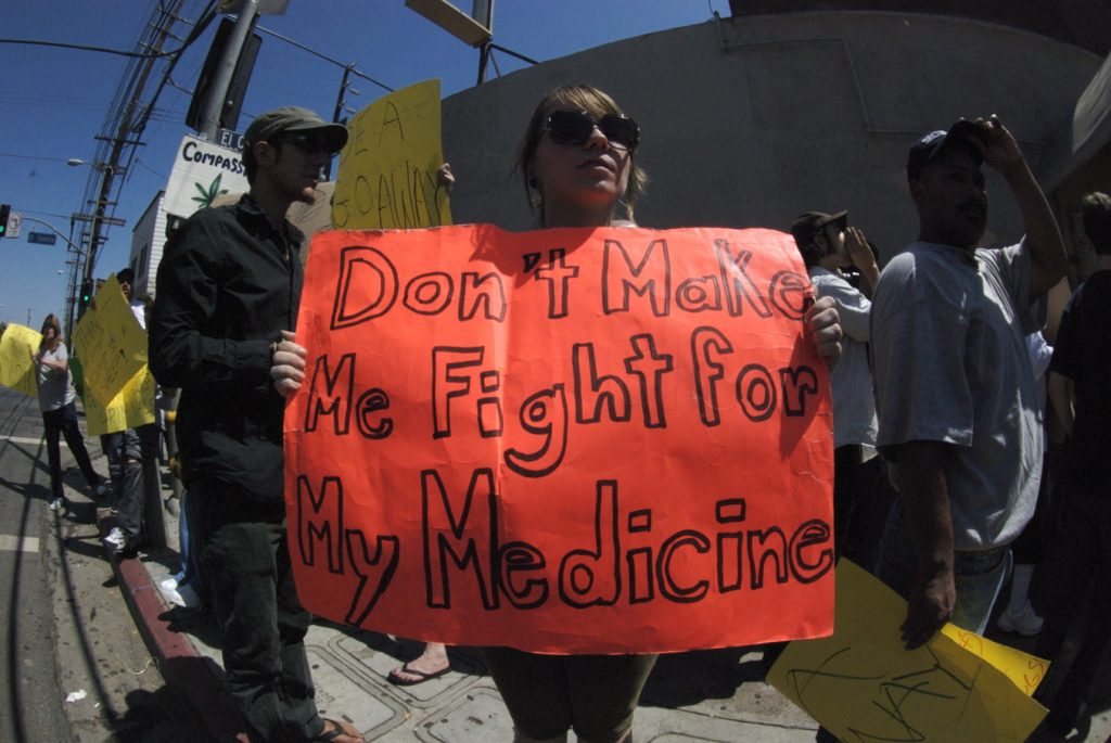 Photo taken by Shay Sowden at a federal raid of a marijuana dispensary in Hollywood, CA