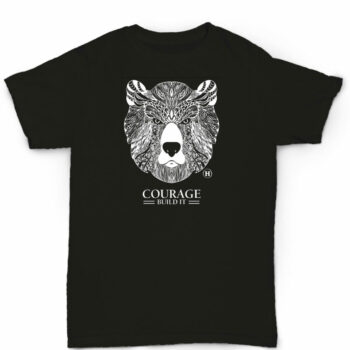 Hemp T Shirt Totem Series Bear Black