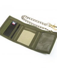 Hempy_s Tri-fold Chain Wallet-Green Inside