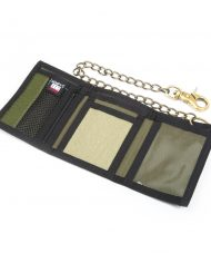 Hempy_s Tri-fold Chain Wallet with Trim-Green Tattoo Inside