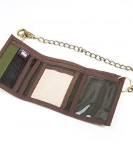 Hempy_s Tri-fold Chain Wallet with Trim-Natural Tribal Inside