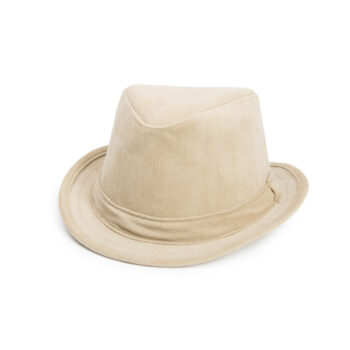 Hemp Corduroy Fedora Hat Natural