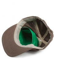 Hempy's Flat Baseball Cap with Secret Pocket-Brown Inside