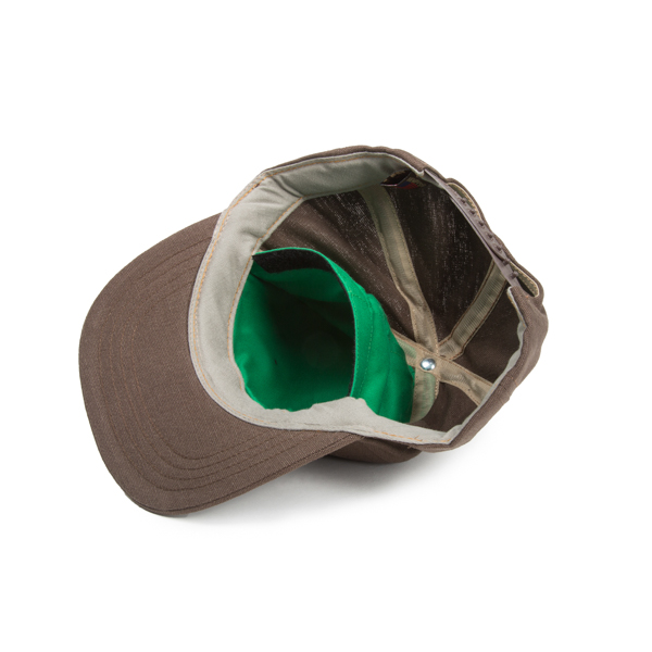 Hempy s Flat Baseball Cap with Secret Pocket-Brown Inside 094d8ded340