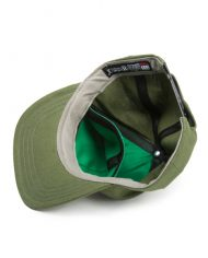 Hempy's Flat Baseball Cap with Secret Pocket-Green Inside