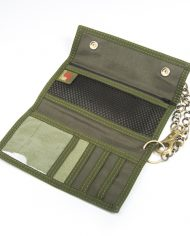 Hempy's Trucker Chain Wallet-Green Inside