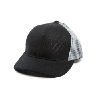 36f1e3b9ae5 Hemp Road Tripper Trucker Mesh Hat Black with Light Gray Mesh