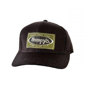 9b40990875a019 Hemp Vintage Baseball Cap Black