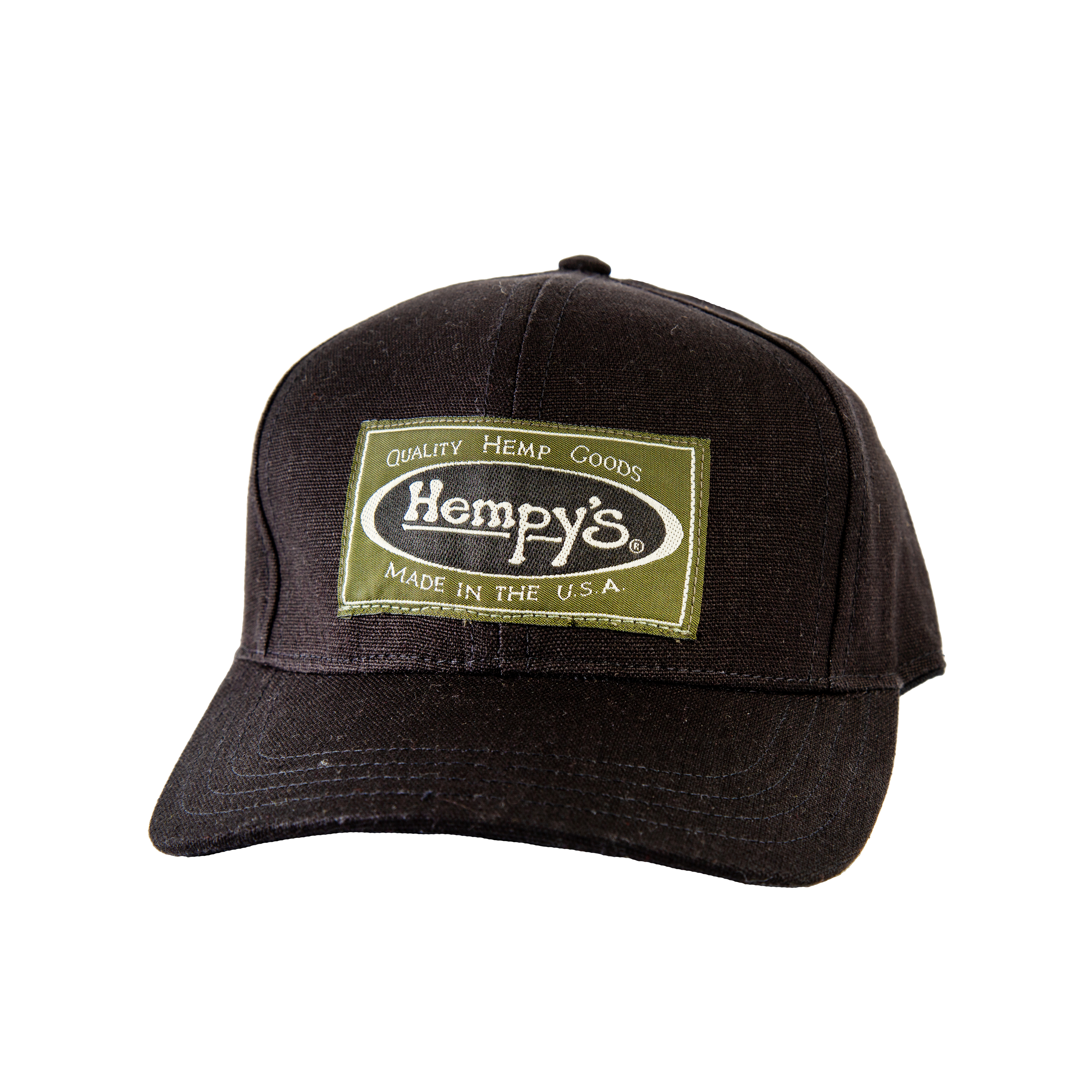 Hemp Vintage Baseball Cap Black - HEMPY S Quality Hemp Goods 25c1b4bb078