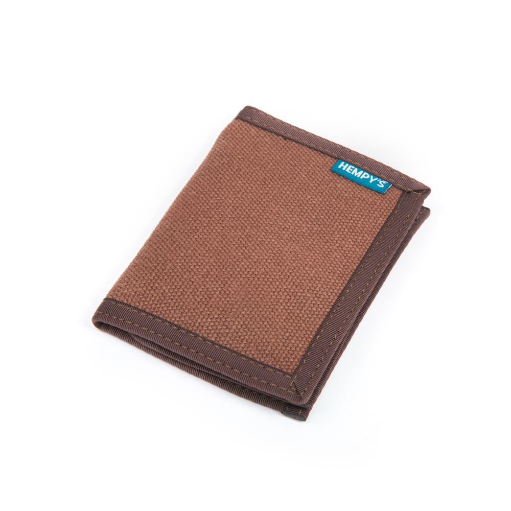 Hemp Bi-fold Wallet Brown with Brown Trim