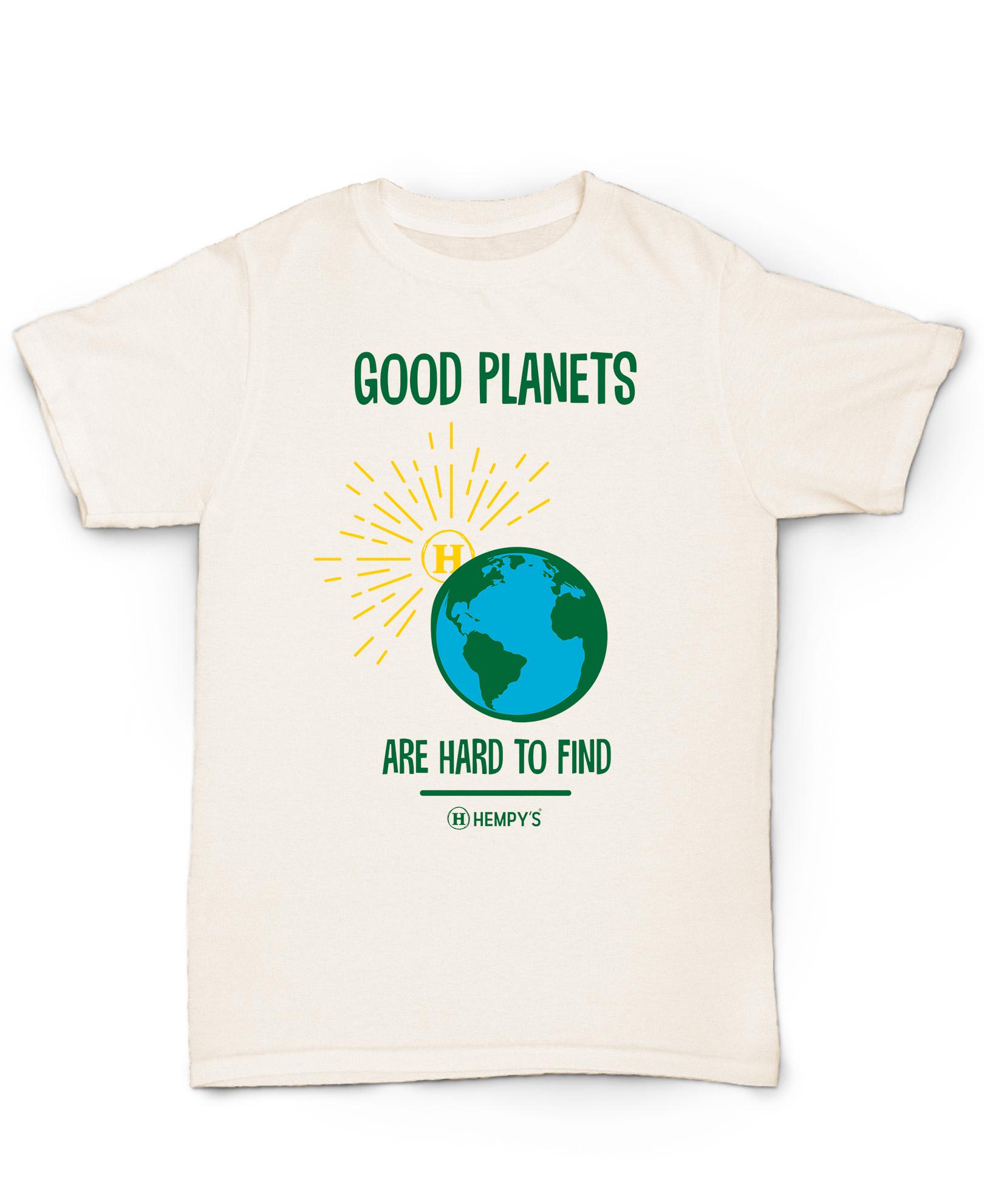 Hemp T Shirt  HEMPY'S  Good Planets