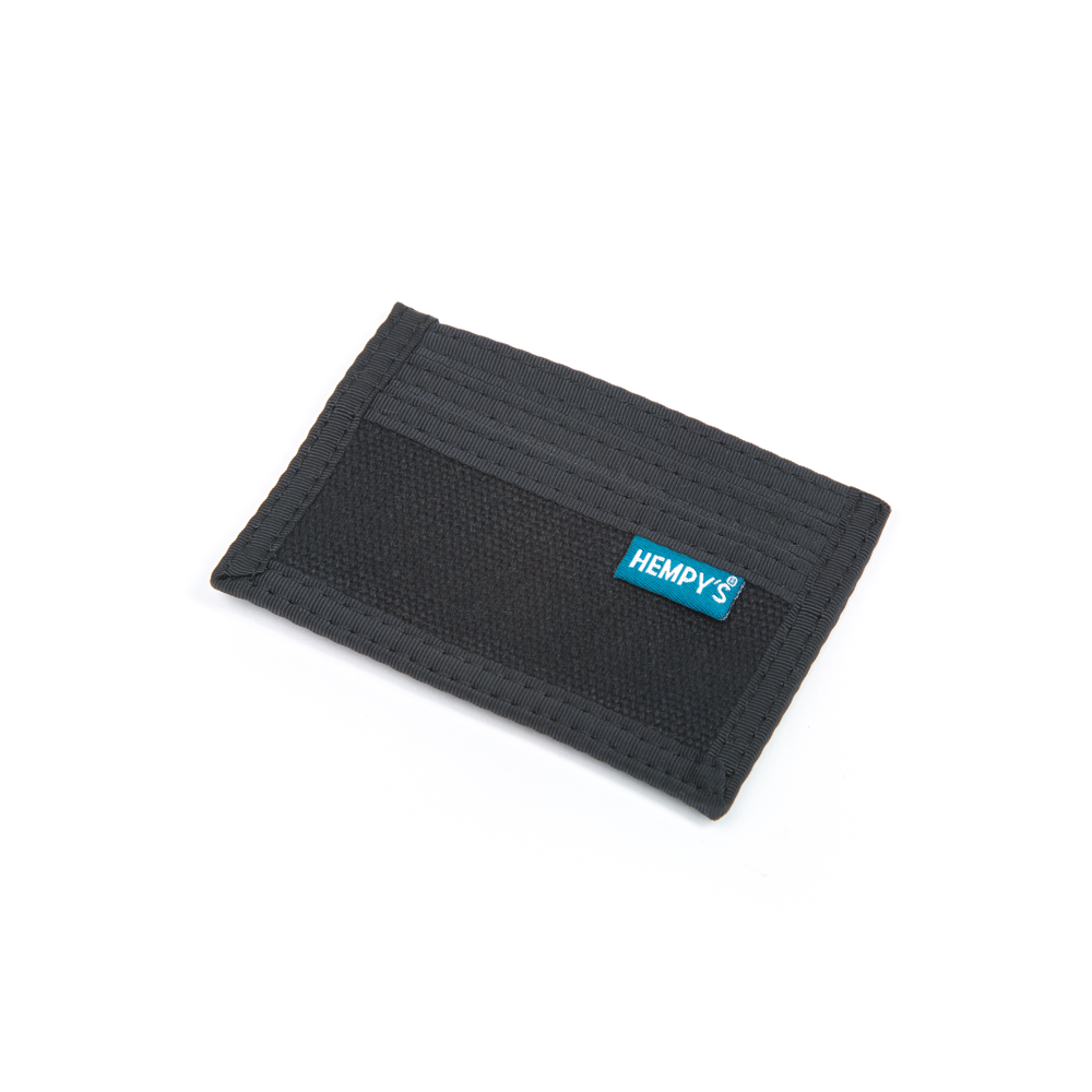 Hemp Minimizer Wallet Black with Black Trim