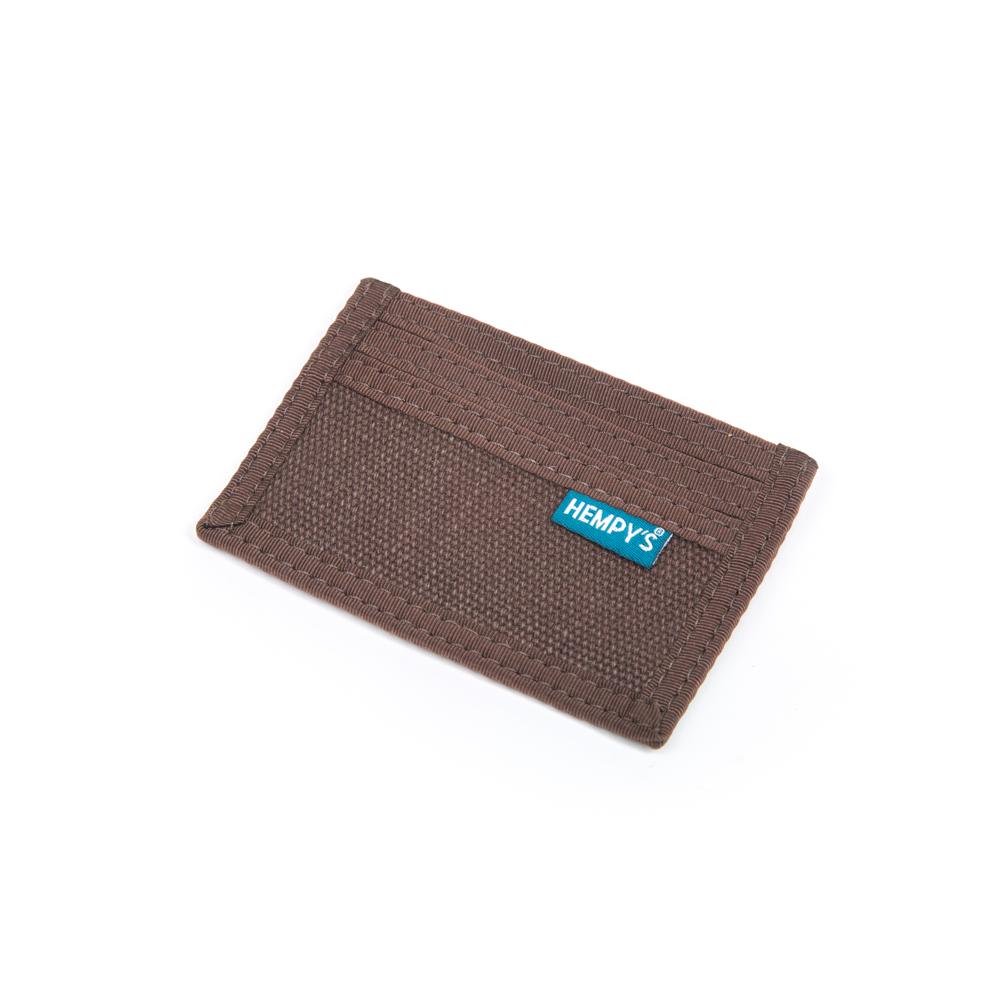Hemp Minimizer Wallet Brown with Brown Trim