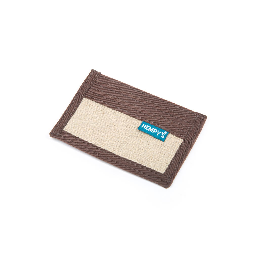 Hemp Minimizer Wallet Natural with Brown Trim