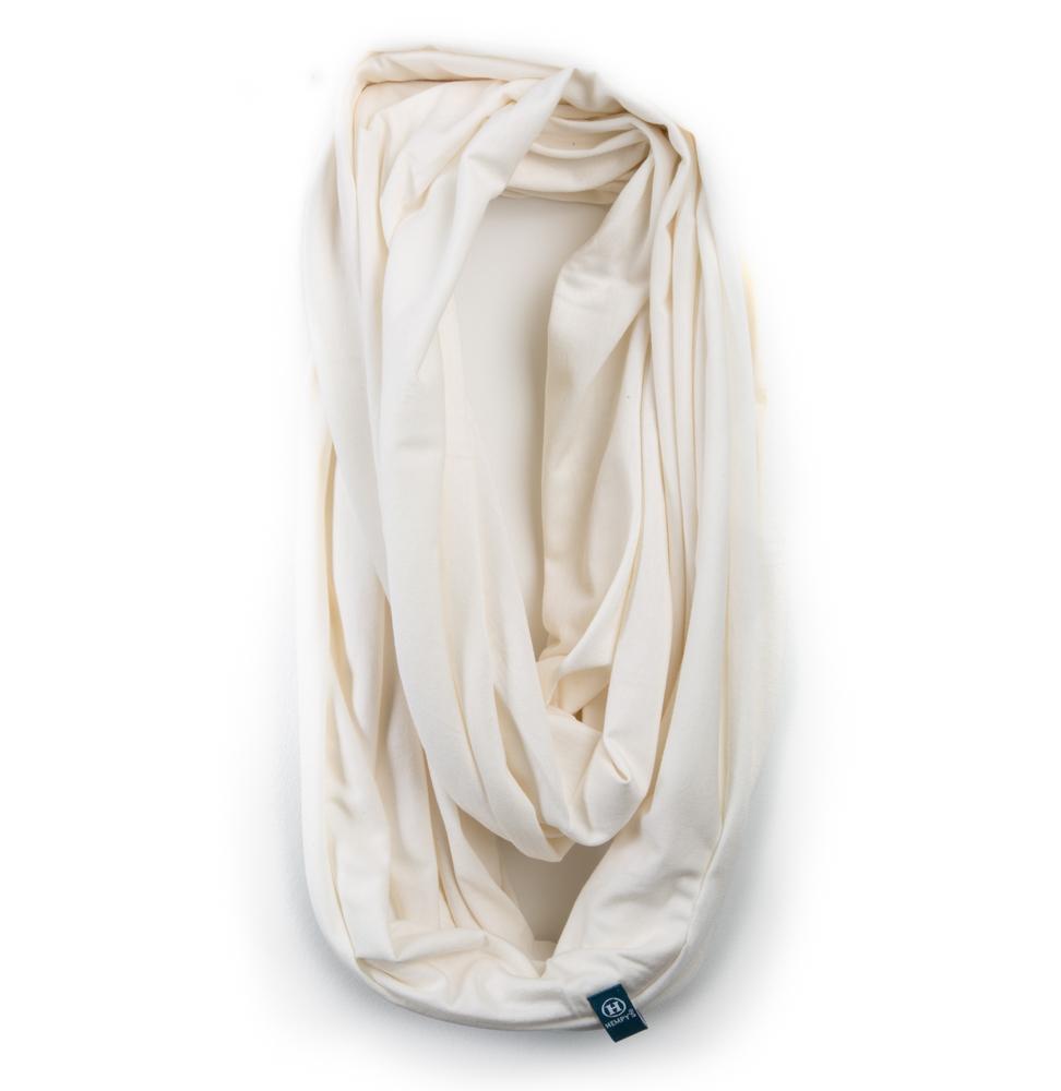 Bamboo Organic Cotton Infinity Scarf White