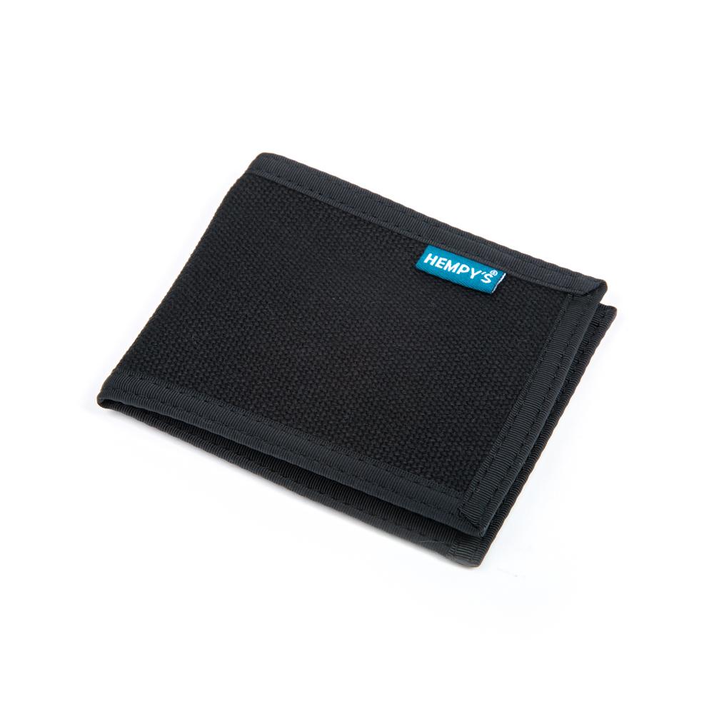 Hemp Slim Line Wallet Black with Black Trim