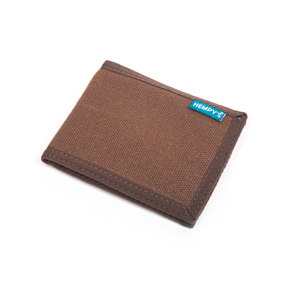 Hemp Slim Line Wallet Brown with Brown Trim