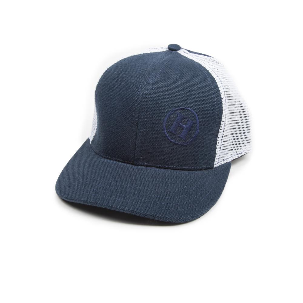 fd9fb2a731eab Hemp Road Tripper Trucker Mesh Hat Blue with White mesh - Hempy's Clothing